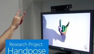 microsoft with handpose